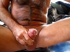 Hairy dad video from his webcam