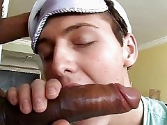 Monster Black Penis Enters White Boys Mouth