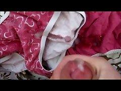 Cumming on two cute panties