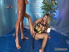 Watersports loving blonde whore gets part1