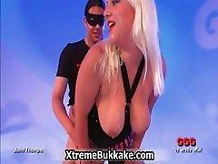 Cum covered thick blonde slut gets part1