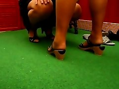 Shopping Tour Nylon Heels B08