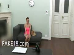 20yo girl having coitus on fake audition