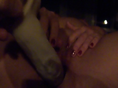 Wife's big dildo 1