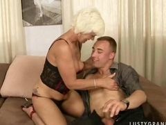Hot grandma fucking a boy