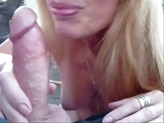 Horny Sexy Wife Sucks Out The Jizz !