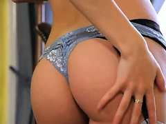 bony blonde with lovely panties