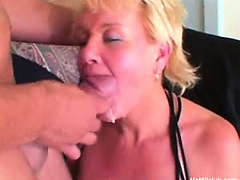 Mature blonde granny hardcore fucking blowjobs and cumshots