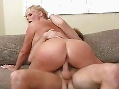 Busty belle Karen Fisher get a stiff pecker