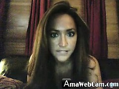 Playtime for brunette webcam