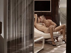 Luxury sex with amazing babe on a chair