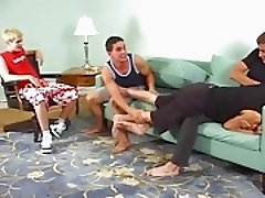 Twink foursome messy game