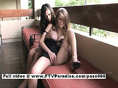 Faye and Larysa two amazing Sexy babe on a restaurant