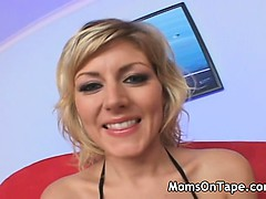 Hot blonde mom gets a good fuck