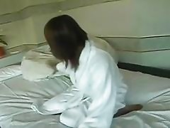Horny Japanese Milf Playing Hair...