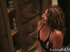 Blondie convinces her man to join a swingers reality