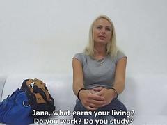 Beaty Blond Girl Jana Fuck Interview