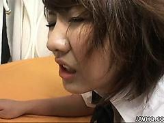 Busty big tits Asian hottie Rio Megumi fucked hard