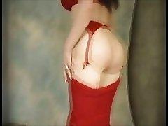 Retro stripper - vintage style striptease
