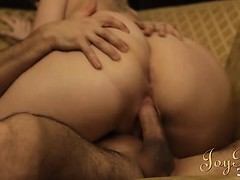 Juicy ass maid has a sensual pounding with a stud