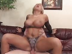 Busty MILF in lingerie fucked