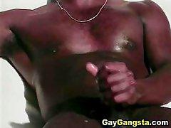 Ebony cock sucking with hardcore anal fucking