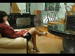 Lesbian mature chick has hot after-party