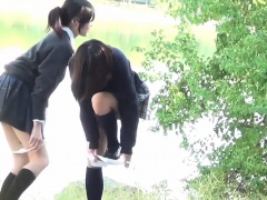 Japanese urinates in park