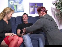 German couple fucking with milf in threesome