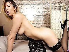 Tall babe has a perfect body she shows off for you