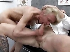 Mature goes in for a gyno exam and gets ass fucked