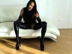 Latex Handjob Footjob