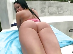 Oiled Booty Nikki Delano Banged Hard