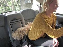 Big tits blonde passenger anal smashed