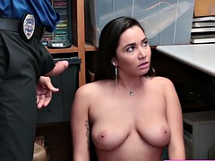 massive tits cutie thief karlee gets nailed