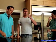 Amateur muscle spitroasting in mmm trio