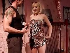 Slutty blonde gets bound punished and toyed for her behavior