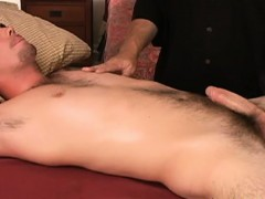 Amateur straight receives sweet massage