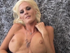 Milf pussy bent doggystyle over the couch
