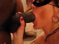 Black bull with huge dick fucks a mature white woman