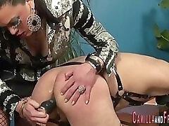 Tgirl domina fucks slave