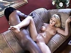 Black guy uses her pussy and ass to get off