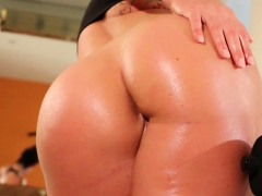 Alison Tyler works out to a sexy sweat