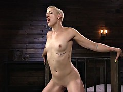 sexy femme fatal fucks and squirts