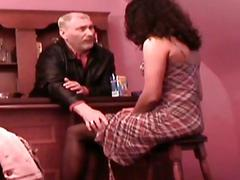 Curly haired teen Cindy take an old cock