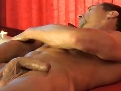 A hunk man wanted to make his dick bigger and massage it