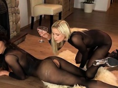 Dido Angel and friend soak nylons in piss