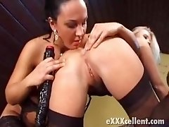 two big titted lesbians in stockings