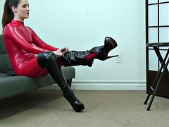 tilly-red-catsuit-boots