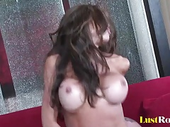 Bouncing breasts are the best view of Hunter Bryce